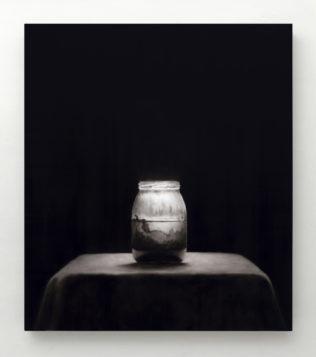 Ettore Frani L'opera del pittore III 2019 cm 63x55 olio su tavola laccata_ph.Paola Feraiorni